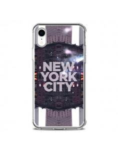 Coque iPhone XR New York City Violet - Javier Martinez