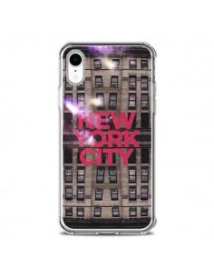Coque iPhone XR New York City Buildings Rouge - Javier Martinez