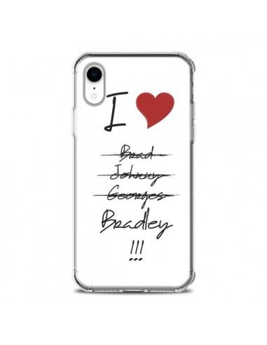 Coque iPhone XR I love Bradley Coeur...