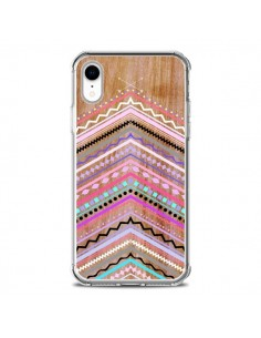 Coque iPhone XR Purple Chevron Wild Wood Bois Azteque Aztec Tribal - Jenny Mhairi