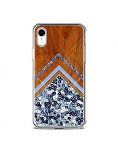 Coque iPhone XR Sequin Geometry Bois Azteque Aztec Tribal - Jenny Mhairi