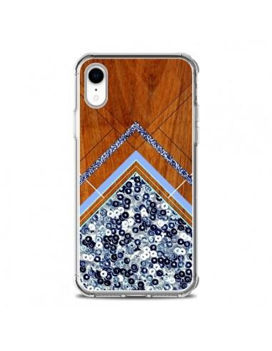 Coque iPhone XR Sequin Geometry Bois...