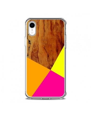 Coque iPhone XR Wooden Colour Block Bois Azteque Aztec Tribal - Jenny Mhairi