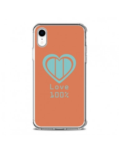 Coque iPhone XR Love 100 pour 100 Coeur Amour - Julien Martinez