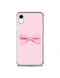Coque iPhone XR Noeud Papillon Rose Girly Bow Tie - Laetitia