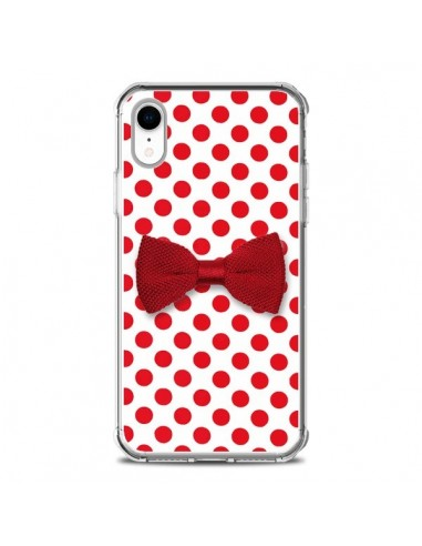 Coque iPhone XR Noeud Papillon Rouge Girly Bow Tie - Laetitia
