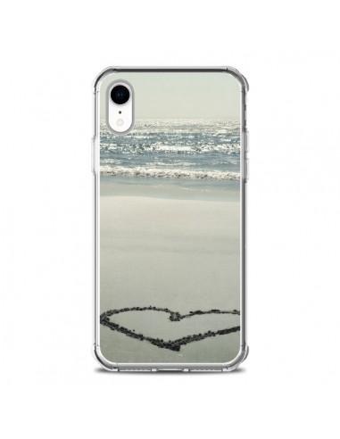 Coque iPhone XR Coeur Plage Beach Mer Sea Love Sable Sand - R Delean