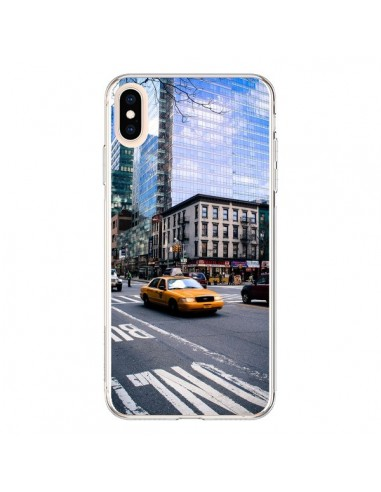 Coque iPhone XS Max New York Taxi -...