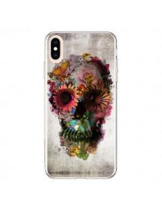 Coque iPhone XS Max Skull Flower Tête de Mort - Ali Gulec