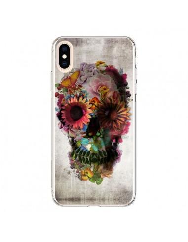 Coque iPhone XS Max Skull Flower Tête...
