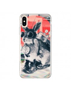 Coque iPhone XS Max Lapin Time Traveller - Ali Gulec