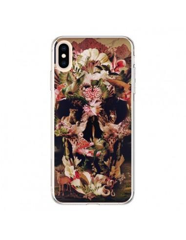 Coque iPhone XS Max Jungle Skull Tête de Mort - Ali Gulec
