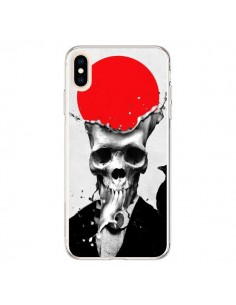 Coque iPhone XS Max Splash Skull Tête de Mort - Ali Gulec