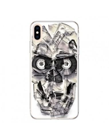 Coque iPhone XS Max Tape Skull K7...