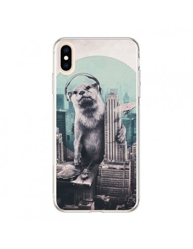 Coque iPhone XS Max Loutre Dj New York - Ali Gulec