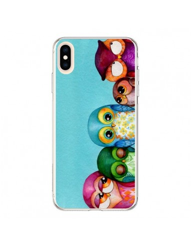 Coque iPhone XS Max Famille Chouettes - Annya Kai