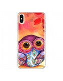 Coque iPhone XS Max Chouette Feuilles Automne - Annya Kai