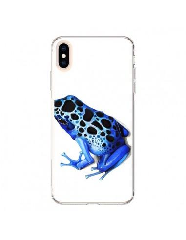 Coque iPhone XS Max Grenouille Bleue - Annya Kai