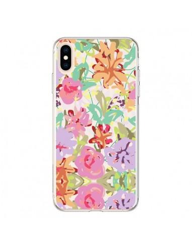 Coque iPhone XS Max Fleurs Botanical - AlekSia