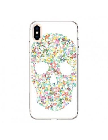 Coque iPhone XS Max Flower Skull Tête de Mort - AlekSia
