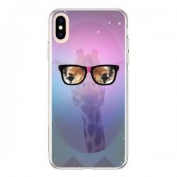 Coque iPhone XS Max Girafe Geek à Lunettes - Aurelie Scour