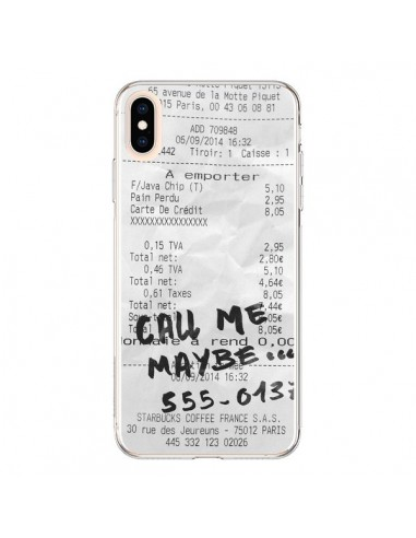 Coque iPhone XS Max Call me maybe - Benoit Bargeton