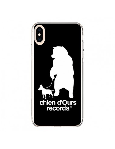 Coque iPhone XS Max Chien d'Ours Records Musique - Bertrand Carriere
