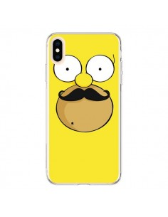Coque iPhone XS Max Homer Movember Moustache Simpsons - Bertrand Carriere