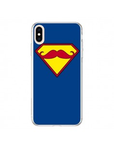 Coque iPhone XS Max Super Moustache Movember Superman - Bertrand Carriere