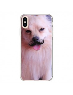 Coque iPhone XS Max Clyde Chien Movember Moustache - Bertrand Carriere