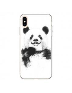 Coque iPhone XS Max Funny Panda Moustache Movember - Balazs Solti