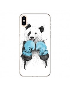 Coque iPhone XS Max Winner Panda Boxeur - Balazs Solti