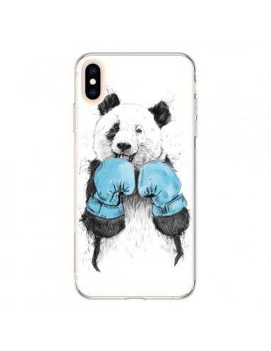 Coque iPhone XS Max Winner Panda Boxeur - Balazs Solti
