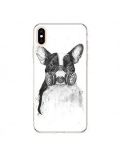 Coque iPhone XS Max Tagueur Bulldog Dog Chien Big City Life - Balazs Solti
