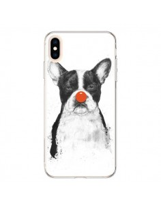 Coque iPhone XS Max Clown Bulldog Chien Dog - Balazs Solti