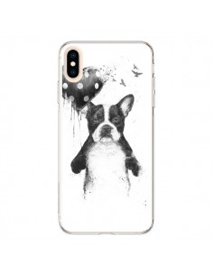 Coque iPhone XS Max Lover Bulldog Chien Dog My Heart Goes Boom - Balazs Solti