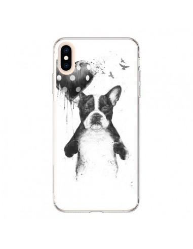 Coque iPhone XS Max Lover Bulldog Chien Dog My Heart Goes Boom - Balazs Solti