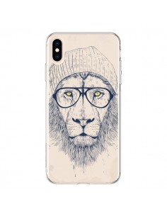 Coque iPhone XS Max Cool Lion Lunettes - Balazs Solti