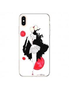 Coque iPhone XS Max Demoiselle Femme Fashion Mode Rouge - Cécile