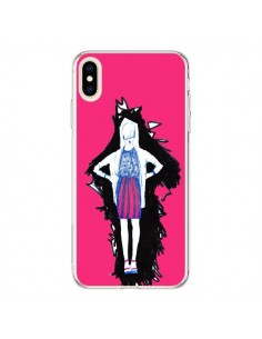 Coque iPhone XS Max Lola Femme Fashion Mode Rose - Cécile