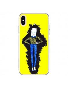 Coque iPhone XS Max Julie Femme Fashion Mode Jaune - Cécile