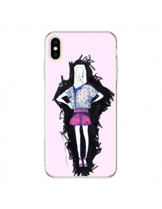 Coque iPhone XS Max Valentine Femme Fashion Mode Rose Clair - Cécile