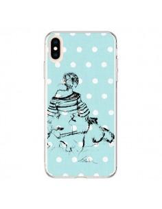 Coque iPhone XS Max Croquis Pois Femme Fashion Mode - Cécile