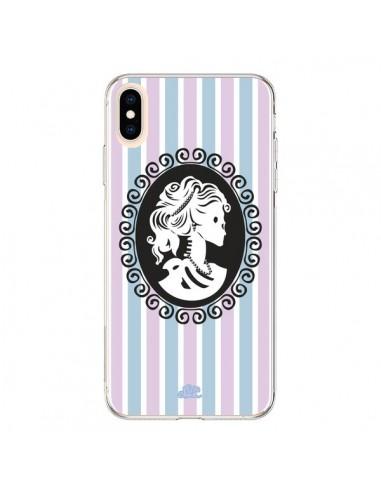 Coque iPhone XS Max Camée Squelette Rose - Enilec