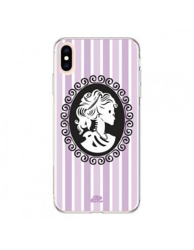 Coque iPhone XS Max Camée Squelette Rose et Bleue - Enilec