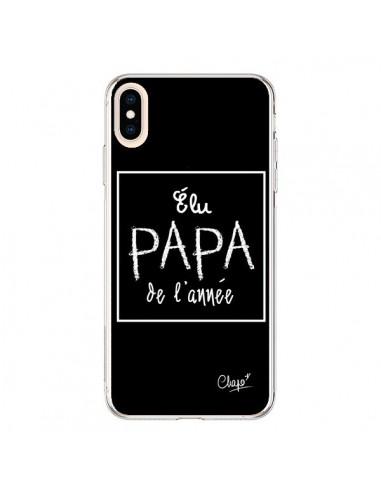 Coque iPhone XS Max Elu Papa de l'Année Noir - Chapo