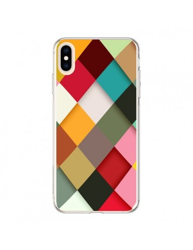 Coque iPhone XS Max Colorful Mosaique...
