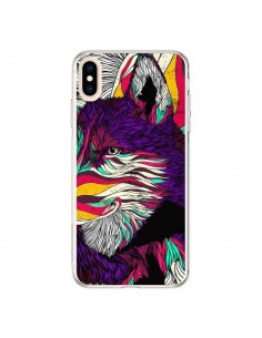 Coque iPhone XS Max Color Husky Chien Loup - Danny Ivan