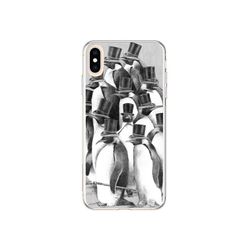 Coque iPhone XS Max Pingouins Gentlemen - Eric Fan
