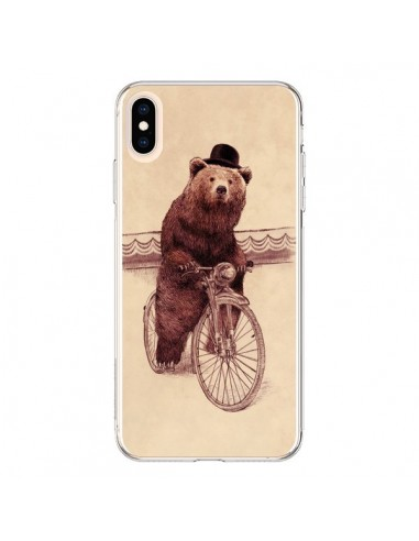 Coque iPhone XS Max Ours Velo Barnabus Bear - Eric Fan